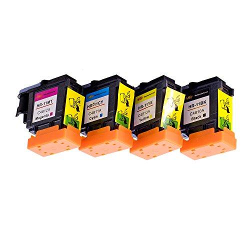 Testina di stampa Lucky Bridge 4PK HP11 C4810A C4811A C4812A C4813A Compatibile per stampanti di testine di stampa HP 11 UK