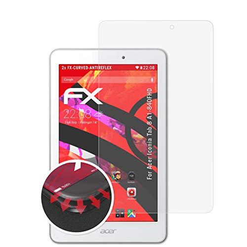 atFolix Schutzfolie passend für Acer Iconia Tab 8 A1-840FHD Folie, entspiegelnde und Flexible FX Displayschutzfolie (2X)