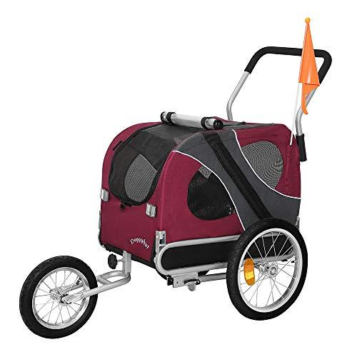 Tiggo DOGGYHUT Rimorchio porta-cane di dimensioni medio per bicicletta con set da jogging 10201-01