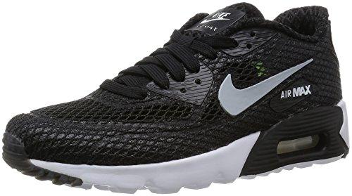 Nike Air Max 90 Ultra Br Plus Qs, Chaussures de Running Entrainement Homme, Bleu Noir / Gris / Blanc / Vert (Black / Wolf Grey-White-Volt)