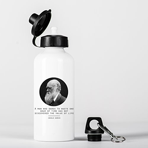 Value of Life Charles Darwin Quote Origin of Species Evolution Atheist Aluminium Trinkflasche Bottle