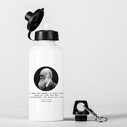 Value of Life Charles Darwin Quote Origin of Species Evolution Atheist Aluminium Trinkflasche Bottle