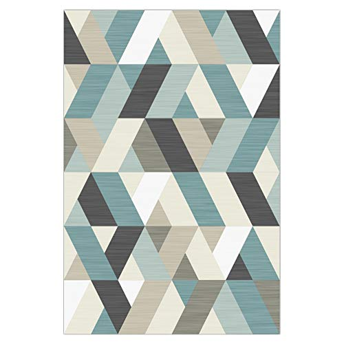 Jwkcm Tapis de Salon, Tapis à Motifs géométriques, adaptés aux Tapis de Polyester pour Chambre à Coucher d'étude de Salon,2.0 * 3.0M