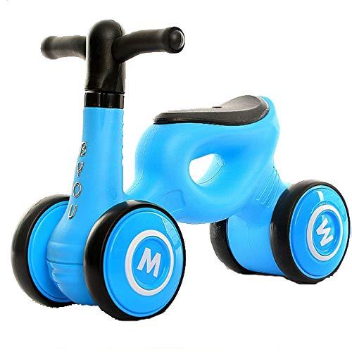 LITIAN Camminatore Scorrevole per Bambini a Quattro Ruote Scooter Torcente per Auto Walker Baby Yo-Yo 1-3 Anni Scooter Blu