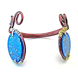 Orgone Bracelet Double Oval- Orgonite Supernatural Modern Spiritual Gift - EMF Protection Healing Energy - Epoxy Art
