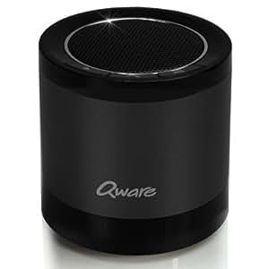 Tragbarer Bluetooth Lautsprecher mit Freisprechfunktion und Vakuum-Bass Design (schwarz)