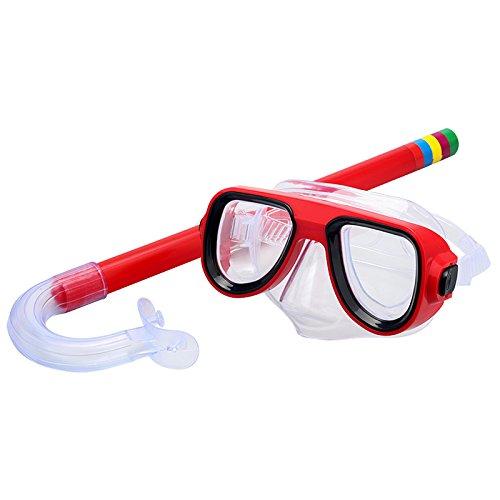 Beautop Taucherbrille mit Schnorchel für Kinder, zum Tauchen, Schnorcheln und Schwimmen, beschlägt nicht, rot, 1x1x1cm