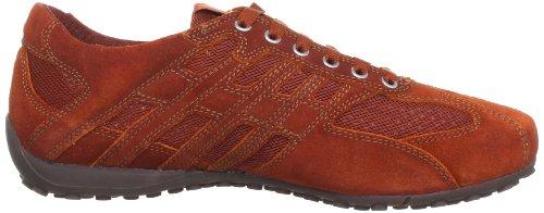 Geox U SNAKE L U1107L01422C7012, Sneaker Uomo Rosso (Dk Orange C7012)