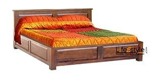 Lifeestyle Sheesham Wood King Size Storage Box Bed