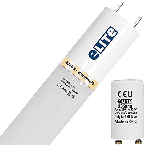 eLITe SMART LED Röhre T8 Glas bruchresistent | G13 | 12W | 3000K | 830| 1600lm hell | 90cm | 330°| ca. 130lm/W | kein Durchhängen| für Behörden und Firmen geeignet | Warmweiß