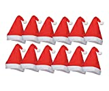 TK Gruppe Timo Klingler 10x Weihnachtsmütze Nikolausmütze  Santa Claus  Premium rot für X-Mas (12x rot)