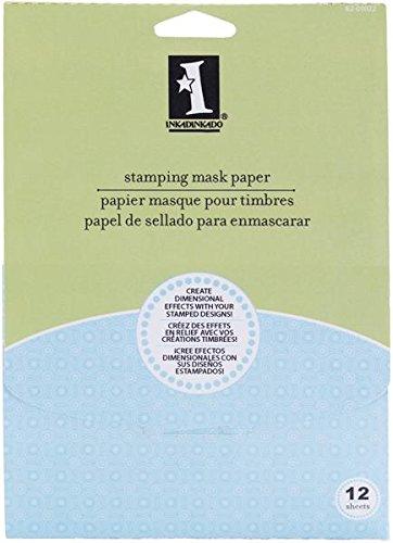 Preisvergleich Produktbild Unbekannt Inkadinkado Stempel-Abdeckpapier zum Positionieren von Stempeln,  12, 7 x 17, 8 cm,  12 Stück
