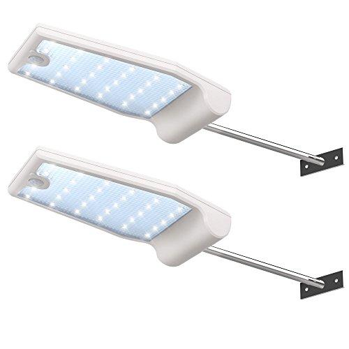 InnoGear 29 LED Solarleuchten Solar Licht Sicherheitslicht Dachrinne Lampe Bewegung aktiviert Sensor Sicherheitsbeleuchtung Außenwandleuchten Außenlampen Aussenleuchten,2pcs