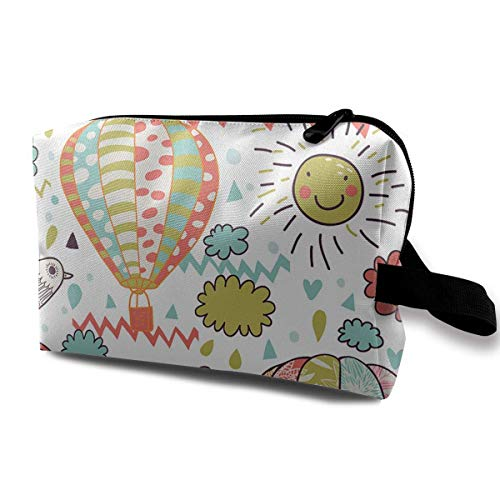 on Sunshine Travel Hanging Toiletry Bag Portable Travel Kit Shaving Bathroom Storage Bag Waterproof Cosmetic Organize ()