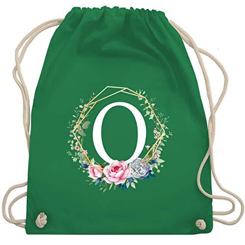 Anfangsbuchstaben - Blumenkranz mit Buchstabe O - Unisize - Grün - WM110 - Turnbeutel & Gym Bag