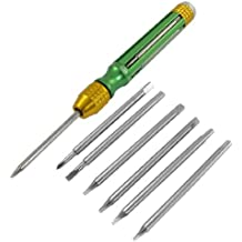 6en 1Set Verde Oro Mango Torx T3T4T5T6Destornillador Bits