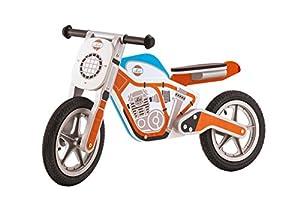Trudi- Peluche Moto Naranja, 92x49x37 cm (82991)