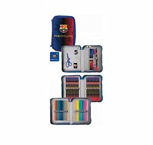 Export.CM 097217 FC Barcelona – Estuche para 3 bolígrafos (21 x 14 x 6,5 cm), Multicolor