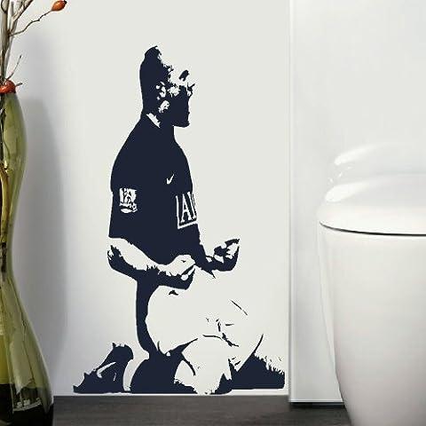 Wayne Rooney-Adesivo da parete in in vinile opaco, misura M (misura 73cmH 44cmW)