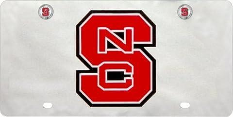 NCAA North Carolina State Wolfpack Nummernschild mit Schraubdeckel (Nc State License Plate)