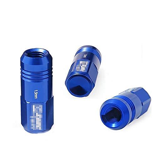 LIDAUTO éCrous de Roues Accessoires de Course Haute dureté Vis Anti-vol Alliage d'aluminium M12 * 1,5 / M12 * 1,25 (20PCS),Blue,M12*1.5