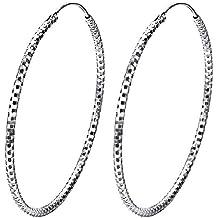 J.SHINE mujer pendientes Plata De Ley Pendiente Anillo de orejas De Aros Cuadrado brillantes pendientes
