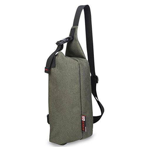 ROBAG Qualitativ hochwertige Brust Männer und mehrere große Kapazität im Freien kleine Tasche Schnalle Mode army green