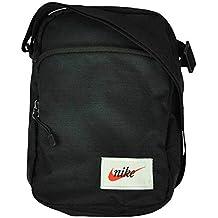 Nike NK Heritage Portable Bag Bolsa de mensajero Organizador unisex  bandolera Negro f69c89bcb5bf6