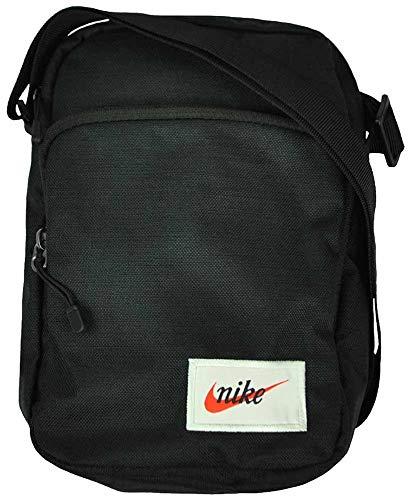 Nike Unisex- Erwachsene NK Heritage Smit-Label Turnbeutel, Black/orange Blaze, One Size - Heritage Tasche