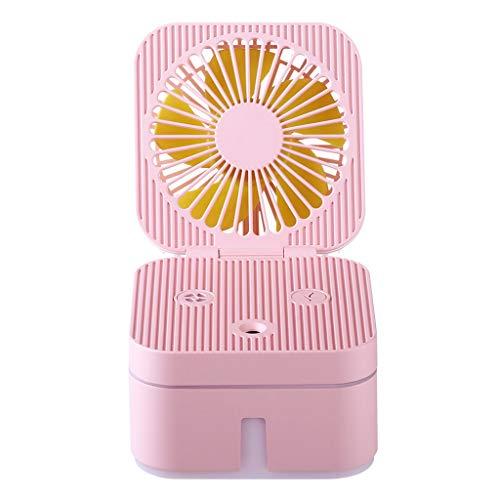 Dtuta Kleiner LüFter Mit Aktivkohlefilter Hohe QualitäT Mit Nachtlicht, Feuchtigkeitsspray, Luftbefeuchter USB-Gadgets/USB-Ventilatoren