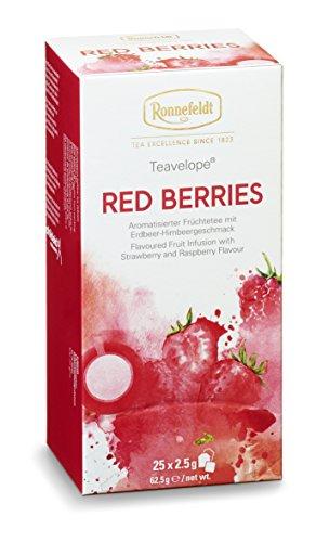Ronnefeldt Teavelope Red Berries, aromatisierter Früchtetee, 6 x 25 Teebeutel, 6er Pack, 375 g