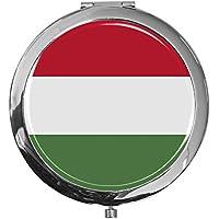 """metALUm - Extragroße Pillendose in runder Form""""Flagge Ungarn"""" preisvergleich bei billige-tabletten.eu"""