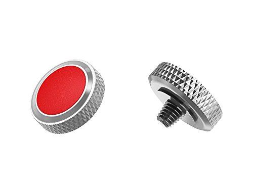 Ergonomischer Auslöser *Kupfer & Kunstleder* Auslöseknopf Soft Release Button für Fuji Fujifilm xt20 x 100f xt10 x-t2 x-pro2 x-pro1 X 100 X100s x100t x30 x 20 x10 x-e3 x-e2s (SRB-GR Red)