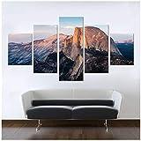 Moderne Leinwand Wandmalerei Dekorative Bergbilder Wandkunst Poster und Drucke Dekoration Druck auf Leinwand (kein Rahmen / 30x40x2 30x60x2 30x80cmx1)