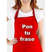 Delantal cocina personalizado .con tu propia frase. Varios colores. Regalo/Bodas/San Valentín/Cumpleaños/Ella/Aniversario/EL