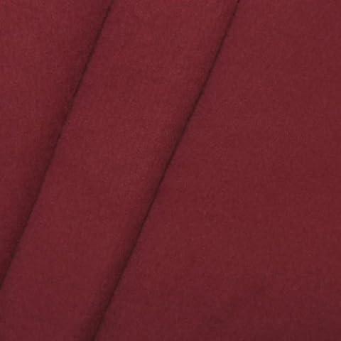 Tissus de scène en molleton B1 / M1 largeur 300cm, couleur: Bordeaux