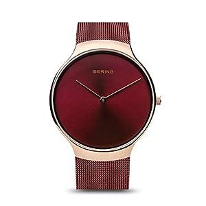 BERING Reloj Analógico para Mujer de Cuarzo con Correa en Acero Inoxidable 13338-Charity