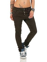 fc6e88781c357c 11250 Fashion4Young Coole Damen Jeans Hose Boyfriend Baggy Haremsjeans  Röhrenjeans Damenjeans pants
