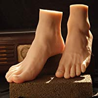 YYSDH Foot toy silicone Simulation Male LifeSize leg foot mannequin shoes socks shooting display props Art Nail Sketch