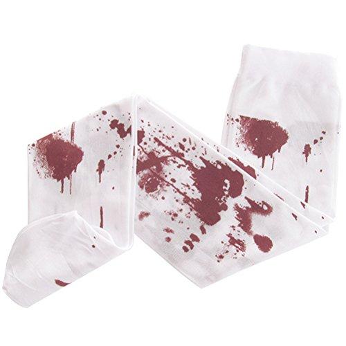 BESTOYARD Halloween-Kostüm weiße Krankenschwester Socken mit Blut blutigen Socken Make-up Strümpfe Requisiten - freie Größe (weiß)