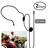 Professionelles Kondensatormikrofon Best 3,5mm Mini-Headset Mikrofon Flexible verdrahtet Boom für Gürtel Pack Mikrofon Systeme Stimme Verstärker Noise Cancelling Mikrofon