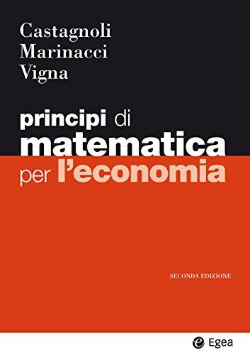 Principi di matematica per economia