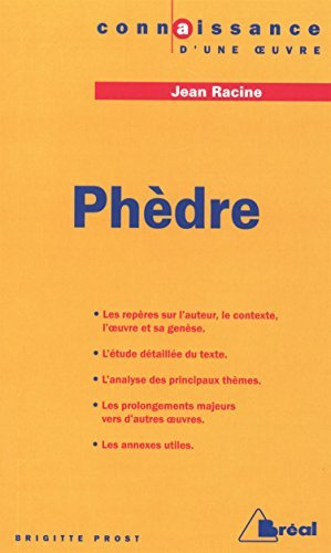 Ph???dre, Racine by Brigitte Prost (2000-05-03)