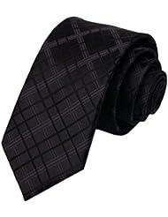 Simple et chic pour homme Business Liens Cravate formelle avec boîte cadeau, noir Ripstop