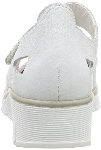 Rieker - 53798 Women Closed Toe, Ballerine Donna Bianco (Bianco (weiss / 80))