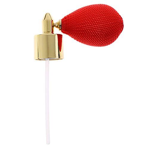 Hellery Bomba De Spray De Botella De Perfume Recargable De Viaje 1x 18 Mm para Mujer Viajero Regalo - Oro, Rojo, Individual