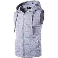 Fashion Gallery Men's Jackets for Winter  Fleece Sleeveless Hooded Sweatshirt Jacket Mens Casual Jacket