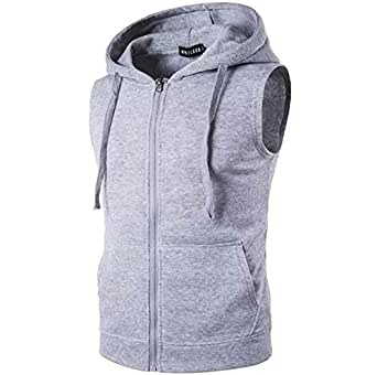 Fashion Gallery Men's Jackets for Winter| Fleece Sleeveless Hooded Sweatshirt Jacket|Mens Casual Jacket