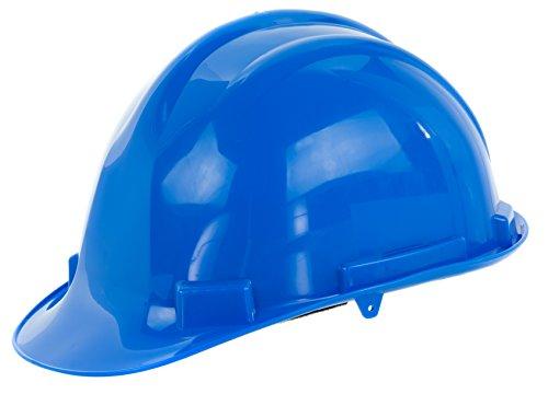 Reis Arbeitsschutzhelm EN397   Schutzhelm ideal für Industrie oder Handwerk   Bauarbeiterhelm aus widerstandsfähigem PP   Arbeitshelm mit 4-Punkt-Aufhängung   Helm Farbe: blau