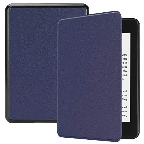 Bescita Modedesign PU-Leder Standplatz-Fall-Abdeckung Case Cover Für Neue Amazon Kindle Paperwhite 10. Gen 2018 Folio-Hülle Auto Sleep/Wake (Dunkelblau)